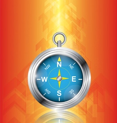 compass with arrow background vector image vector image