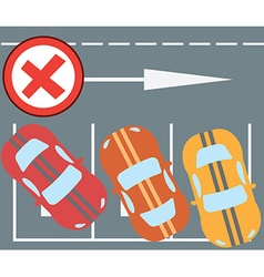 Flat design modern of parking a car instruction vector image