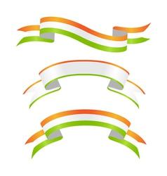 irish banners vector image vector image