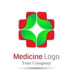 Medical health-care Volume Logo Colorful 3d Design vector image vector image