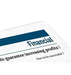 newspaper - financial profit vector image vector image