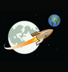 rocket from the moon vector image