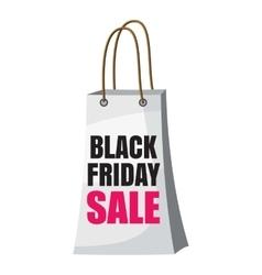 Shopping bag black friday sale icon cartoon style vector image vector image