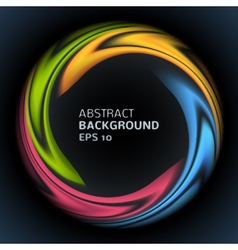 Abstract colorful swirl circle bright background vector image