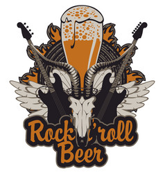banner for a rock pub with hard live music vector image