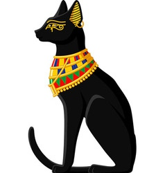 Egyptian cat vector