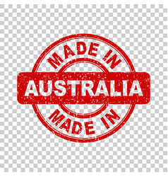 made in australia red stamp on isolated background vector image