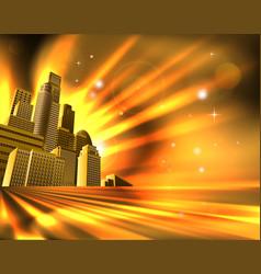 Orange skyscraper background vector