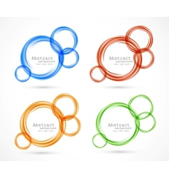 Set of circles banners vector image