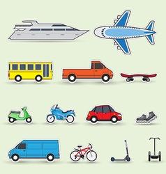 Traffic vehicles vector image