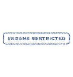 vegans restricted textile stamp vector image vector image