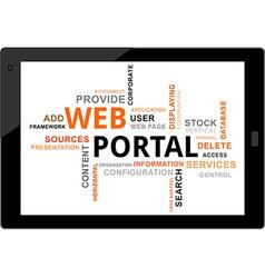 word cloud web portal vector image