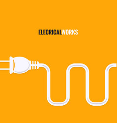 electric plug wire design background vector image vector image