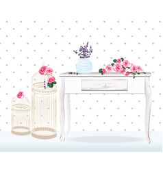 retro style floral decorations for wedding vector image vector image