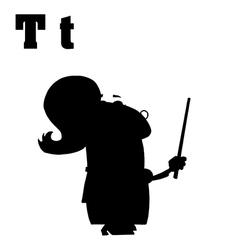 Teacher cartoon with letter vector image vector image