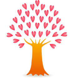 tree love pink vector image vector image