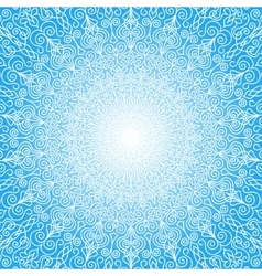 White Mandala Sun in the Sky vector image vector image