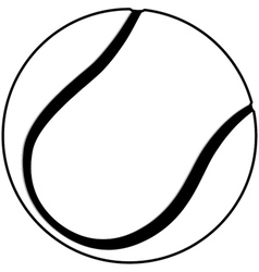 A tennis ball outline isolated in white background vector