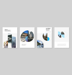 A4 brochure layout covers design templates for vector