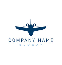 airplane logo 2 vector image