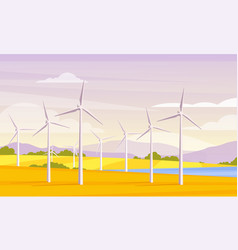 alternative energy resource and rotation windmills vector image