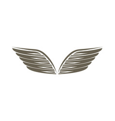 angel wings isolated emblem vector image