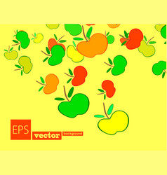 Apple frame card design with and leaf vector