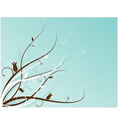 aqua floral motif vector image
