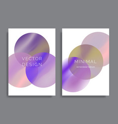 backgrounds with vibrant gradient shapes vector image