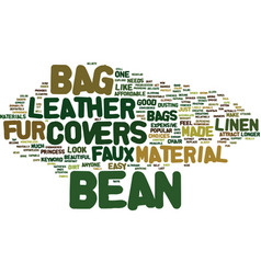 Bean bag fill text background word cloud concept vector