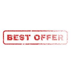 best offer rubber stamp vector image