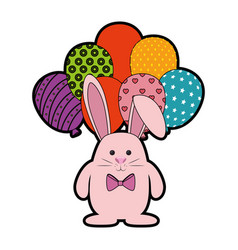 Bunny animal balloons vector