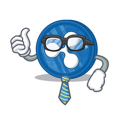 Businessman ripple coin character cartoon vector