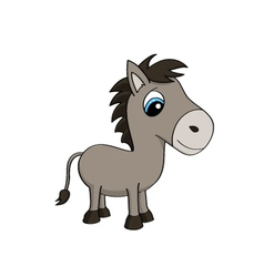 Cartoon of a cute donkey vector image