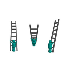 Climbing ladder in 3d vector