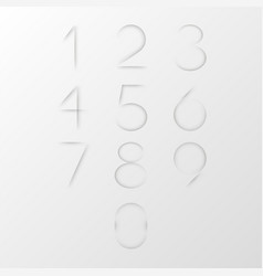 collection of figures cut on clear white paper vector image