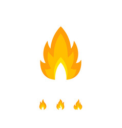Colorful shaped flame element on white vector
