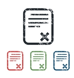 Declined document grunge icon set vector