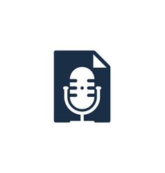 document podcast logo icon design vector image