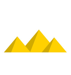 egyptian pyramids symbol icon design vector image