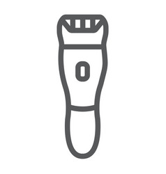 Electric shaver line icon barber and hairstyle vector