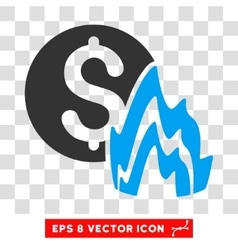 Fire Disaster Price Icon vector