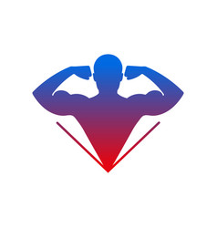 fitness logo vector image