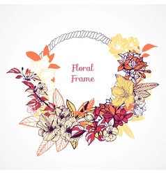 Floral frame template vector