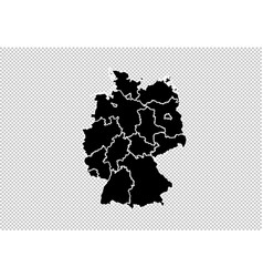 germany map - high detailed black map with vector image