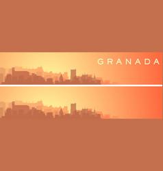 Granada beautiful skyline scenery banner vector