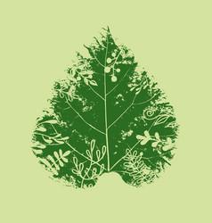 green spring leaf banner concept vector image