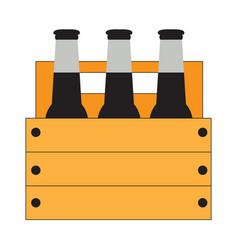 Group of beer bottles vector