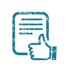 Grunge good document icon vector image