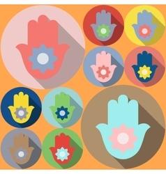 Hamsa symbol Lotus vector